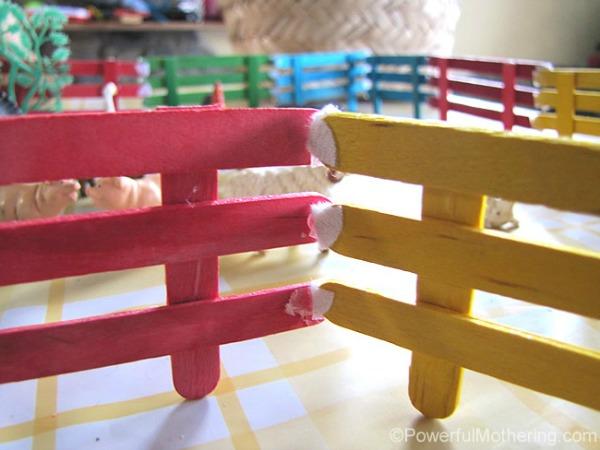 Забор из палочек от мороженого своими руками 527