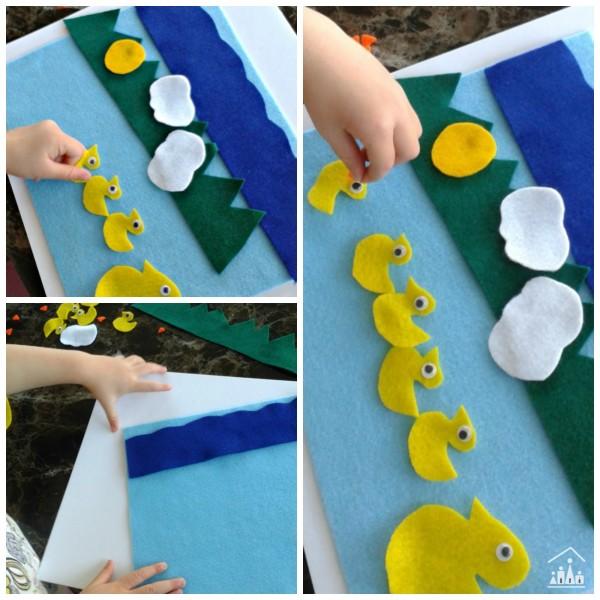 5 Little Ducks Play And Learn Felt Number Fun